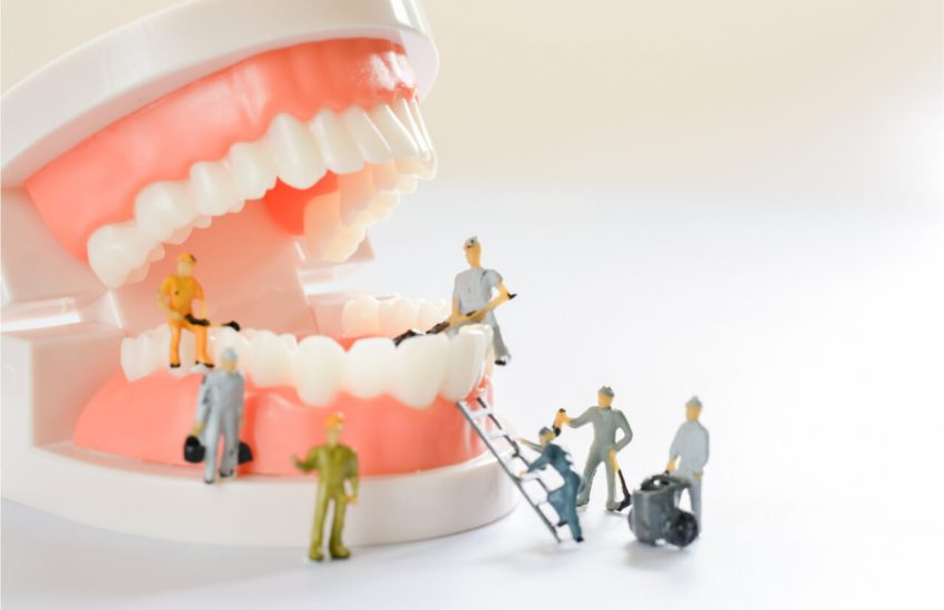 ongoing restoration of tooth enamel
