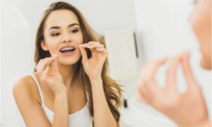 using dental floss
