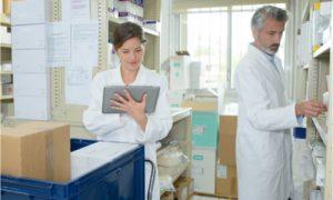 medical staffs conducting inventory check
